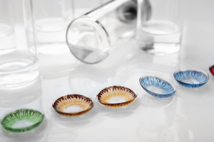 original colored contact lenses with bottle